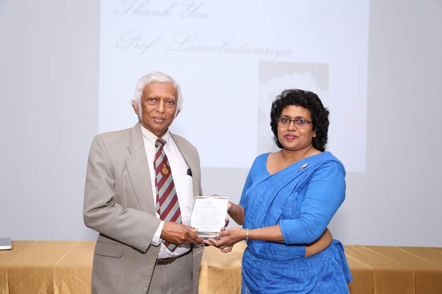 Felicitation Ceremony of Prof. Sanath P Lamabadusuriya